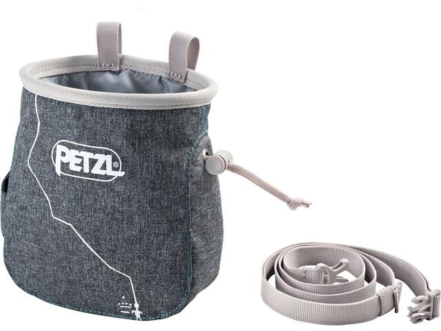 Petzl Saka Magnesiumbeutel grau meliert